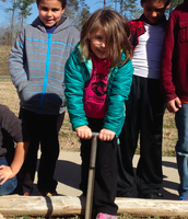 First Graders at PES taking Core Samples!