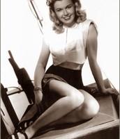 Doris Day posing.