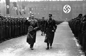 Nazi soldiers and Hitler