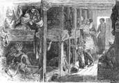 Los irlandeses vivieron en pequeñas casas y trabajaron malos trabajos.