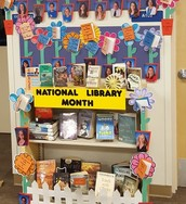 April's Display of Staff's Favorite Books