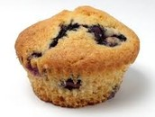 el muffin de arándanos integral