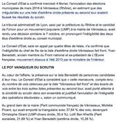 L'annulation des élections municipales de Vénissieux confirmée