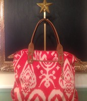SOLD -How Does She Do It - Red Ikat
