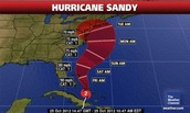 Map Of hurricane Sandy