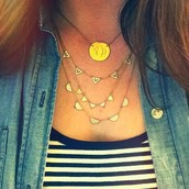 Pave Chevron Necklace $79