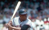 Willie Mays playing baseball
