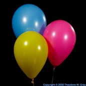 helium is found in balloons