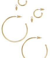 Orbit Hoop Earrings - Gold
