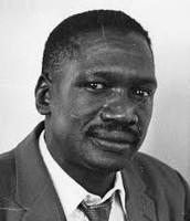 Robert Sobukwe while held in Robben Island Prison