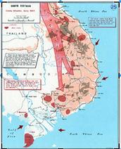 A map of the Vietnam war