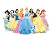 Cuando yo era joven me gustaba princesas Disney