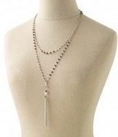 Gitane Tassel Necklace Silver **SOLD**