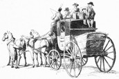 Drawing of a classic Stagecoach