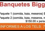BANQUETE COMPLETO $90 PESOS