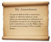 Bill Of Rights Word For Word Amendment 5