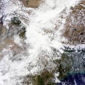 rain in glacier & river depreesion