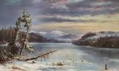 Francois Regis Gignoux (1814–1882) Snowy Landscape