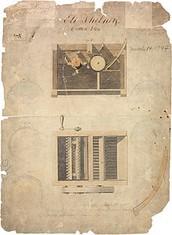 Eli Whitney's original cotton gin patent.