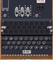 A Diagram of an Enigma Machine