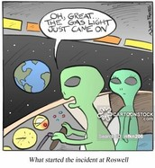 Next, instead of just heading home like any sane person would, we were off to Roswell.