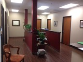 Lobby where the patient rooms are located