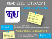 READ 3311:  Undergraduate Course