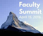 Faculty Summit (April 15)