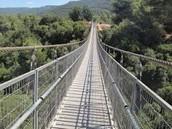 נחל קטיע והגשרים התלויים