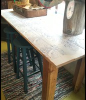 Rustic Upcycled Farm-style Bar Height Table or Island - $185