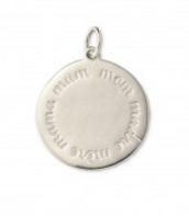 "Round ""Mom"" - sterling silver"