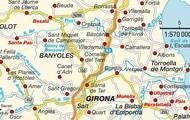 מפה של גירונה