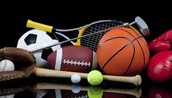 The sports you can play