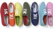 rainbow coloured Keds