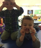 Ethan and Caden Making Faces