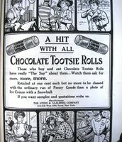 An ad about tootsie rolls