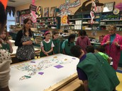 Fifth Graders with Our Artist-in-residence