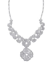 Geneve Lace Necklace/Silver