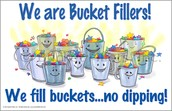 """Elementary Students Work Hard at Being """"Bucket Fillers"""""""