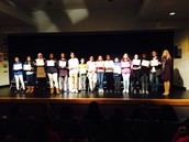 2nd Qtr Honor Roll ceremony