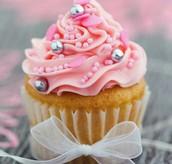 Glaced cupcake