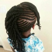 Cornrows With Twist Extensions