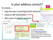 How to check your address?