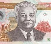 3) Laos Kip