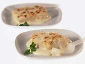 Broiled Halibut with Bechamel Sauce