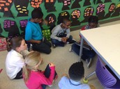 C5 learners showing off their math skills with C3 learners!