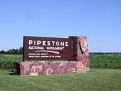 Pipestone monument sign