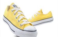 Yellow Chuck Taylor convers