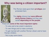 This is the part of the texts that talks of the rights of citizens