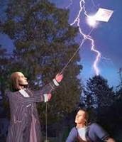Benjamin Franklin Flying kite test
